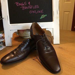 Salvatore Ferragamo Brown Oxford Lace up Shoes 12D
